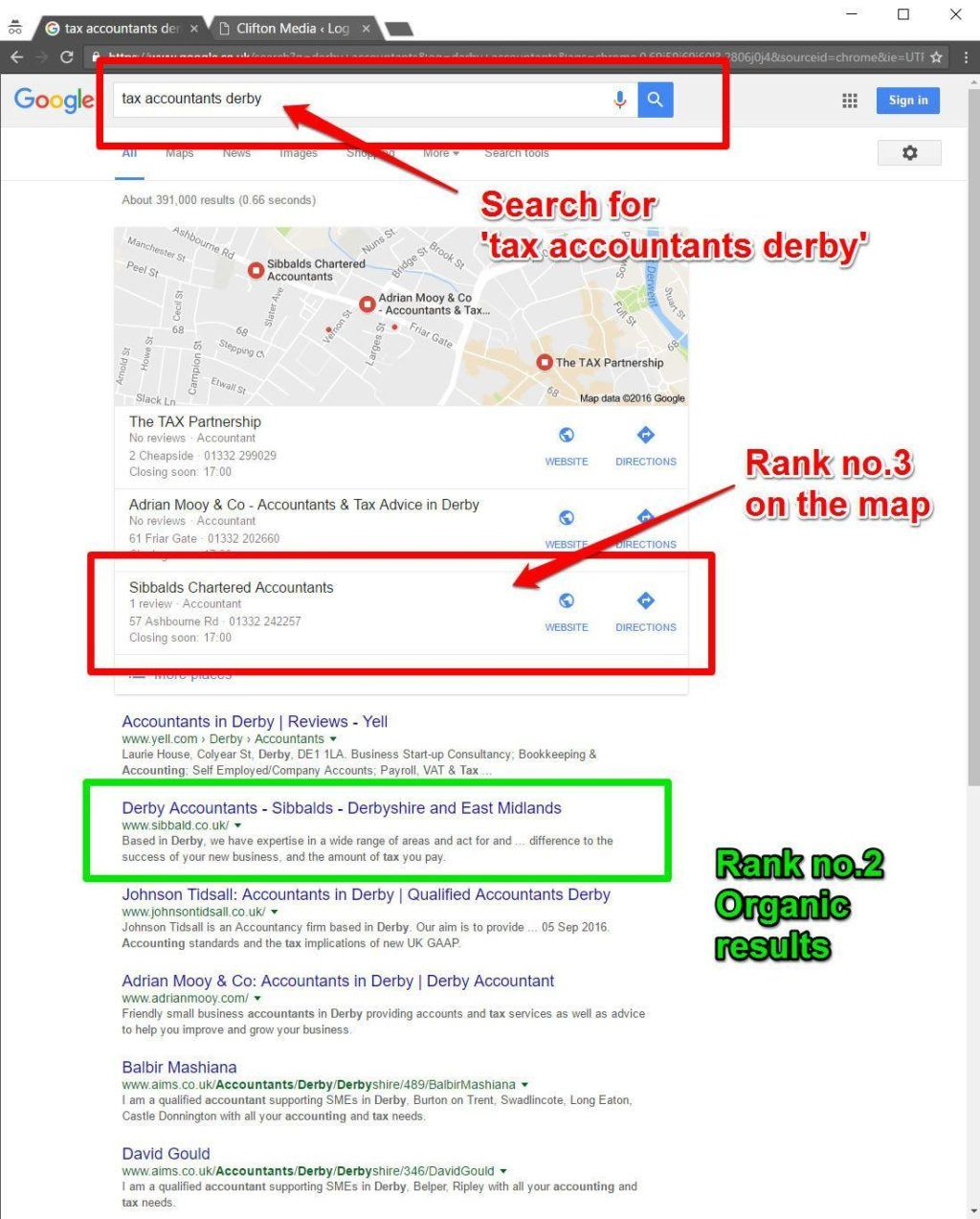 sibbalds google ranking